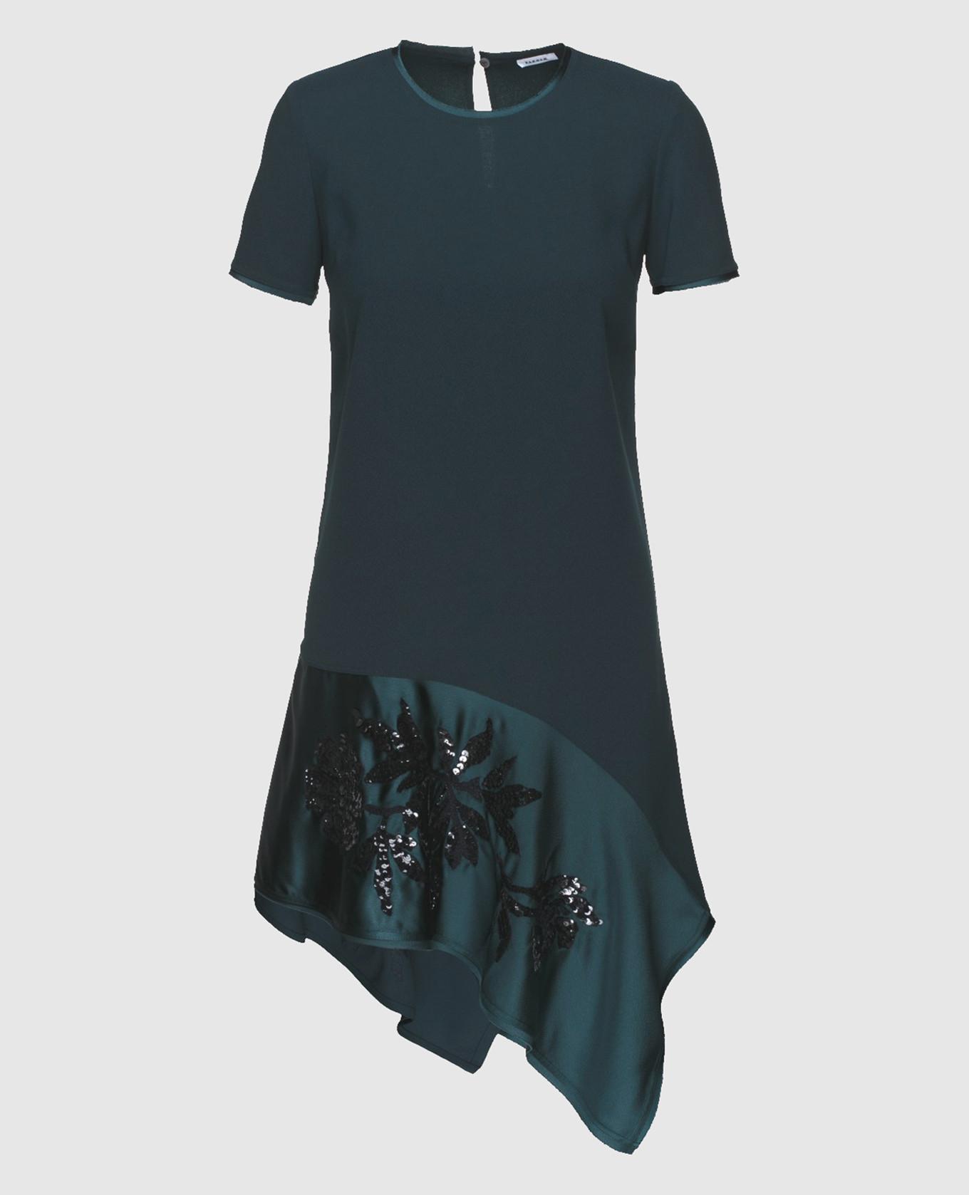Изумрудное платье с пайетками