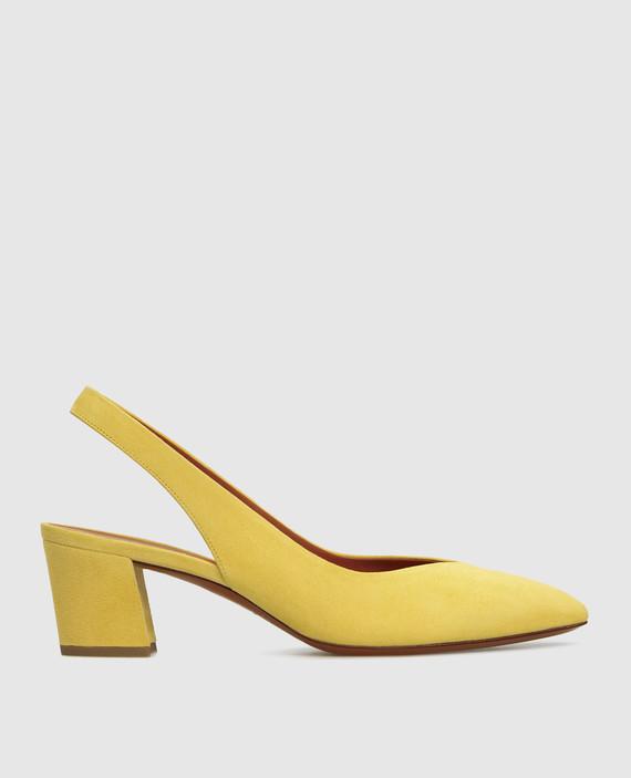 Желтые замшевые слинбэки