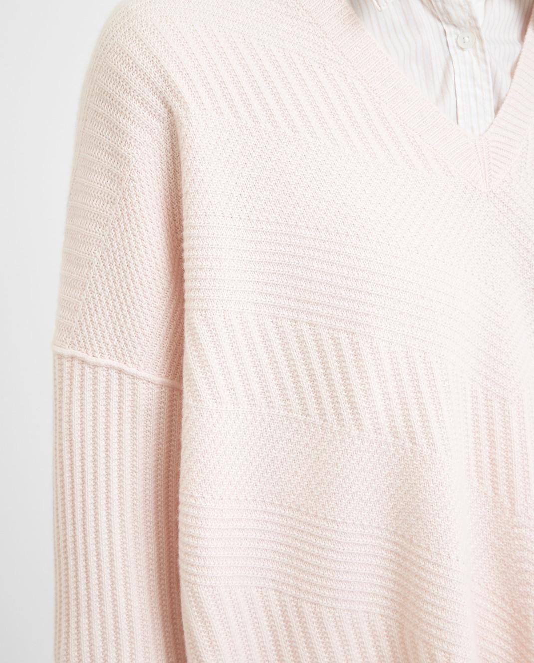 Loro Piana Розовый пуловер из кашемира F2FAI6038 изображение 5