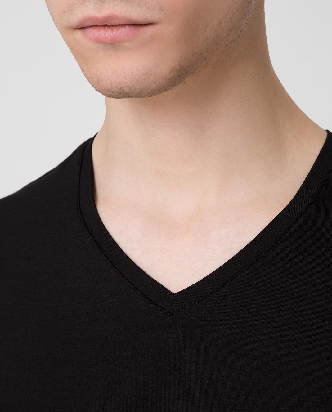 Derek Rose Черная футболка 3083BASE001 изображение 5