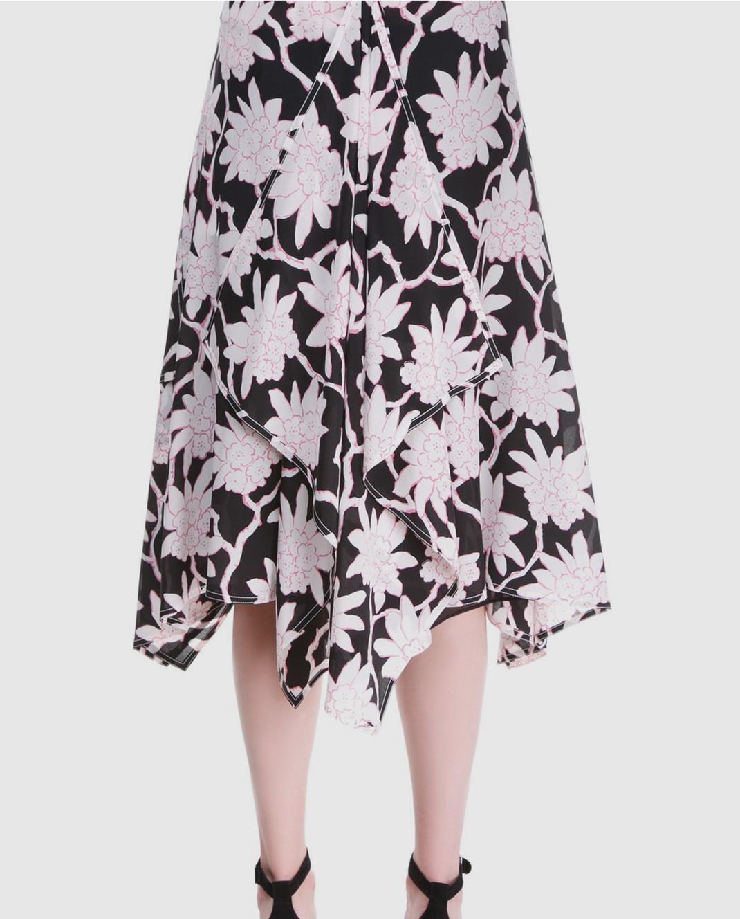 Valentino Черная юбка из шерсти и шелка PB3RA3A03Q1 изображение 4