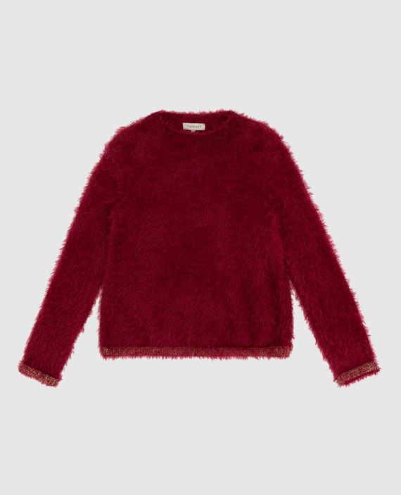 Детский бордовый свитер