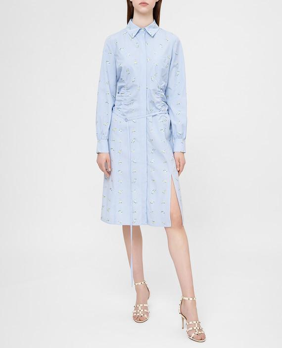 Голубое платье hover