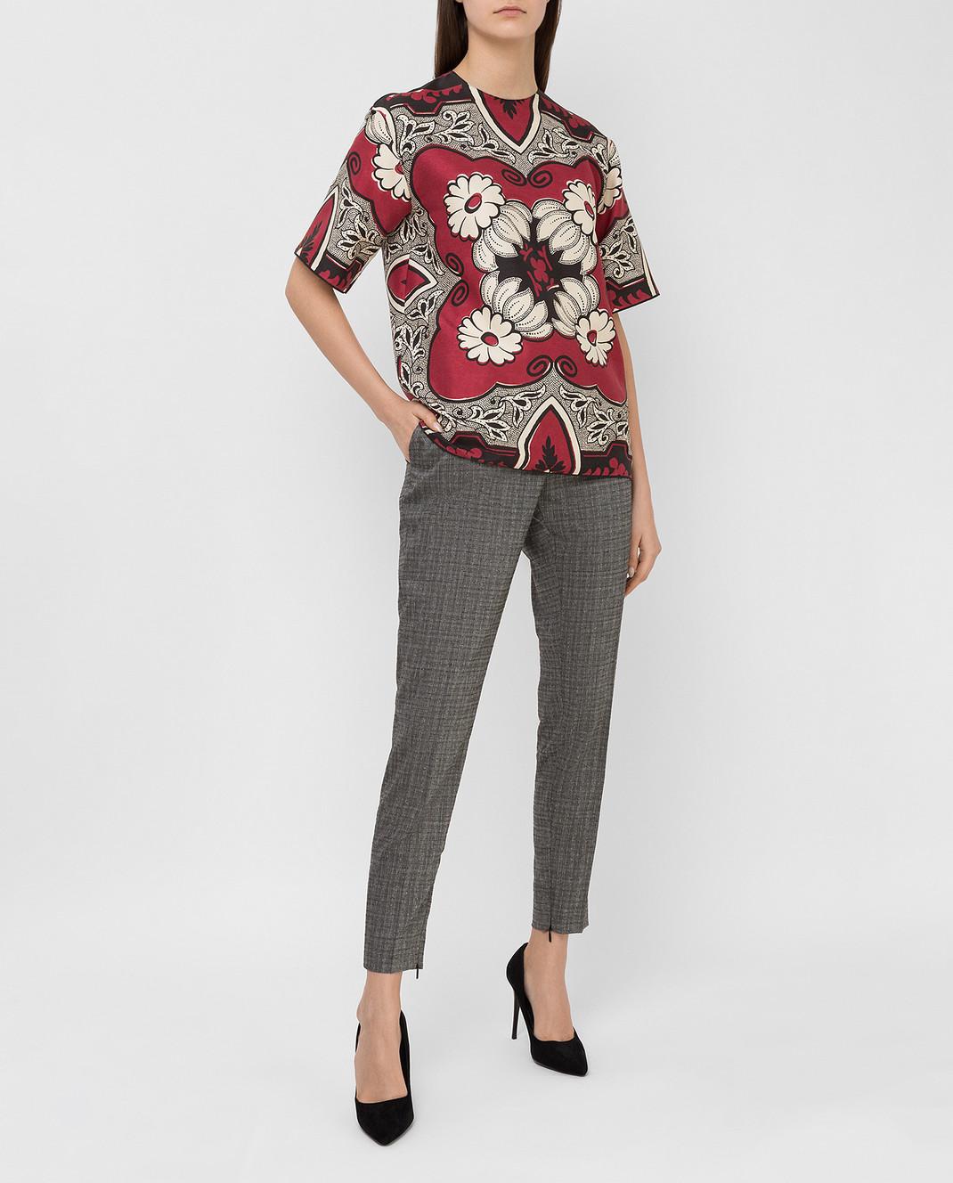 Saint Laurent Серые брюки из шерсти и мохера 502533Y083S изображение 2