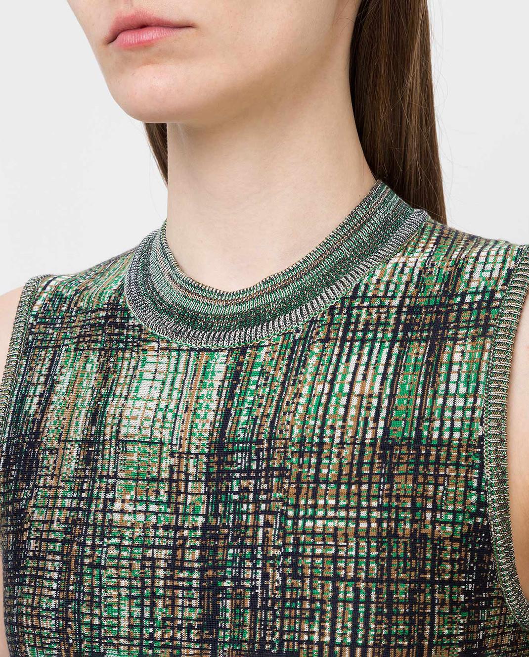 Victoria Beckham Платье из шелка и шерсти DRKNT6455 изображение 5