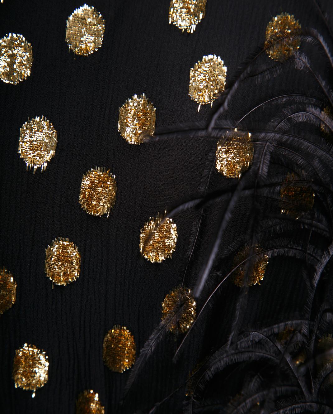 Valentino Черное шифоновое платье QB2VAIK043C изображение 5