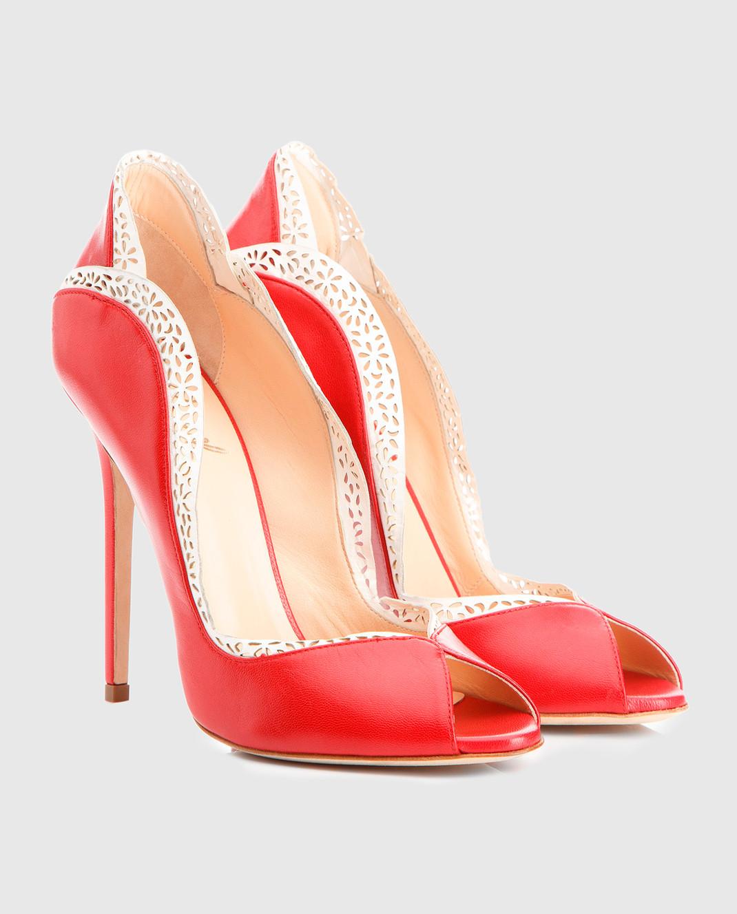Cerasella Красные кожаные туфли DANAECAPRETTO DANAECAPRETTO изображение 3