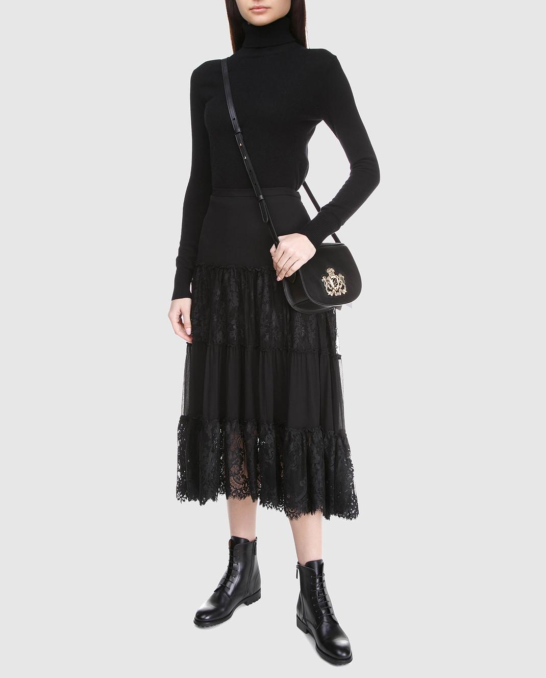 Ralph Lauren Черная юбка из шелка 211670984 изображение 2
