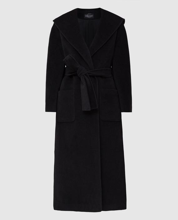 Темно-серое пальто из шерсти и кашемира