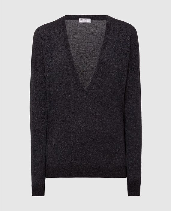 Темно-серый пуловер