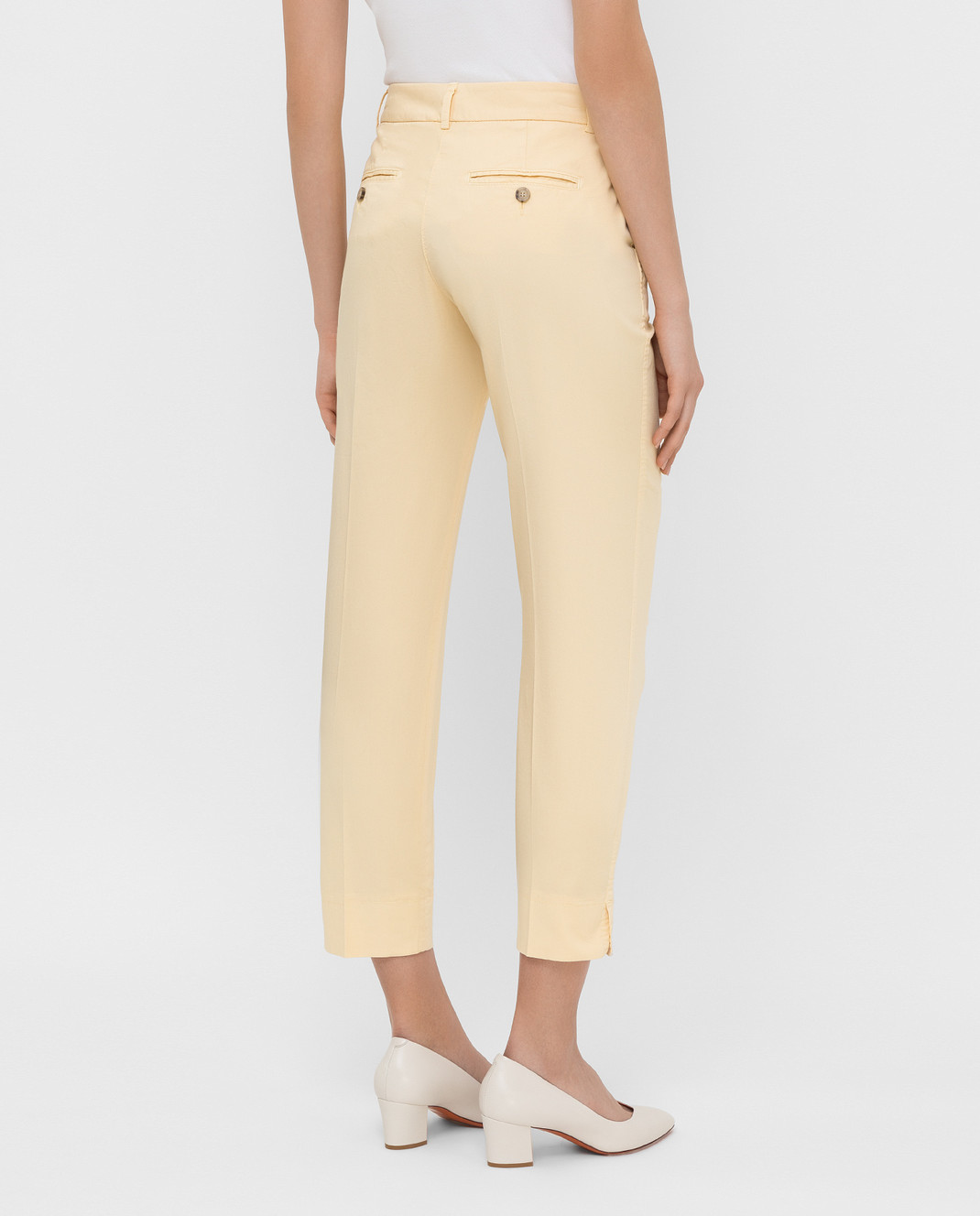 Peserico Светло-желтые брюки P04718T402477 изображение 4
