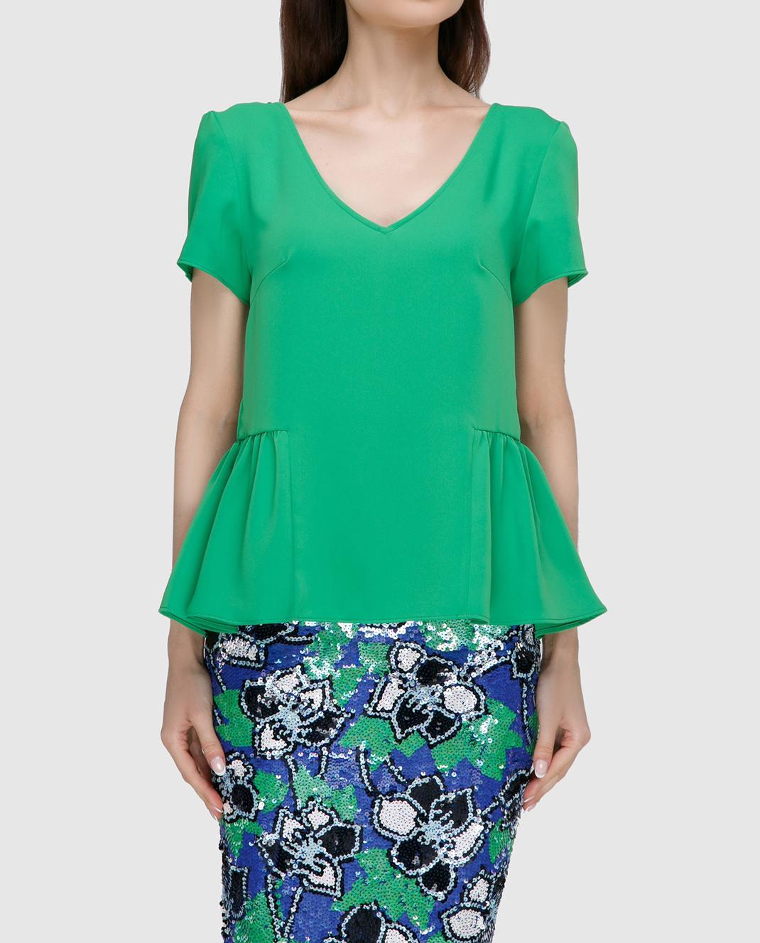 PAROSH Зеленая блуза D310311 изображение 3