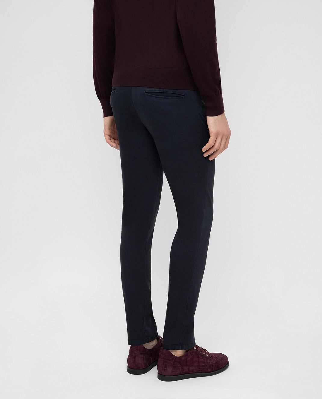 Fradi Темно-синие брюки изображение 4