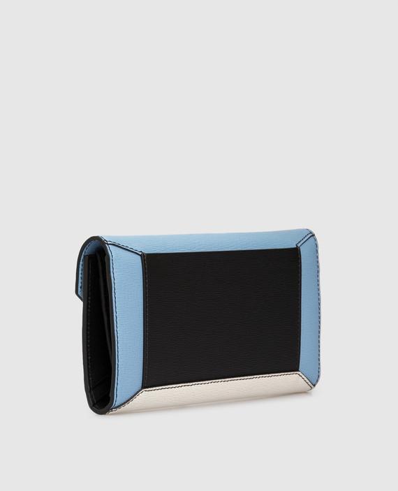 Голубой кожаный кошелек hover