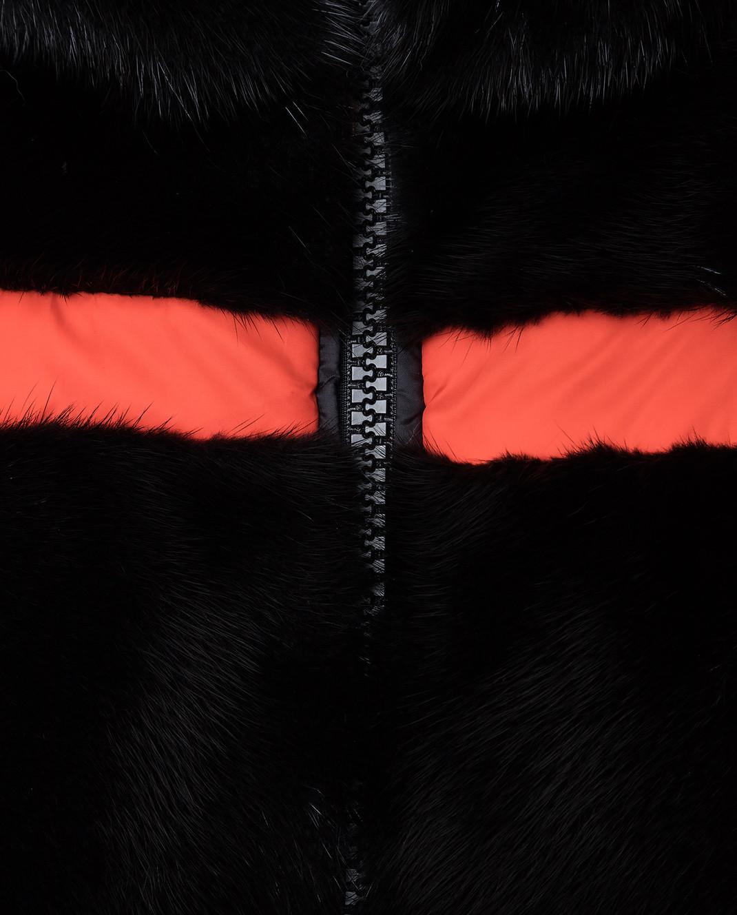 Fabio Gavazzi Черная двусторонняя шуба из меха норки 8VI000F18FG201 изображение 5