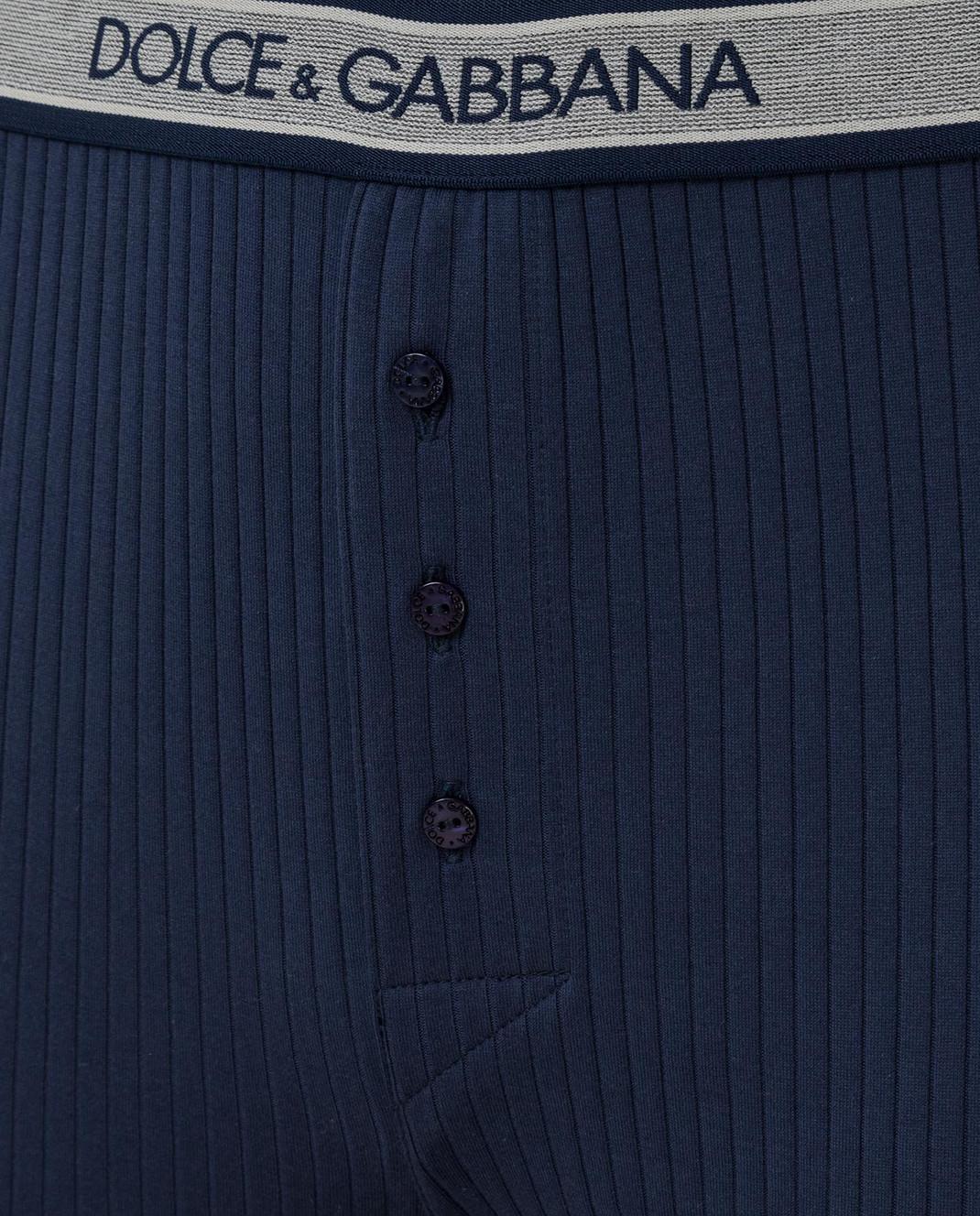 Dolce&Gabbana Темно-синие кальсоны N6A30JFU7F4 изображение 3