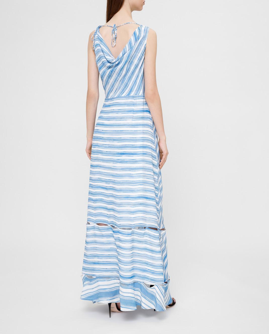 Altuzarra Голубое платье из шелка изображение 4