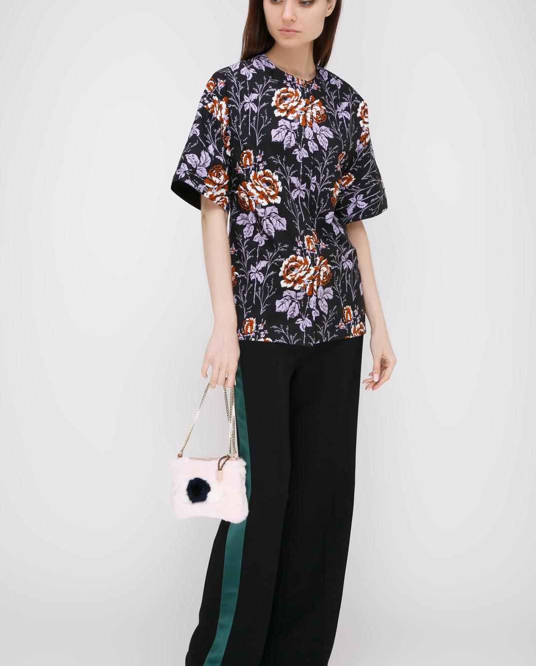 Victoria Beckham Черная блуза SHSHO1047 изображение 2
