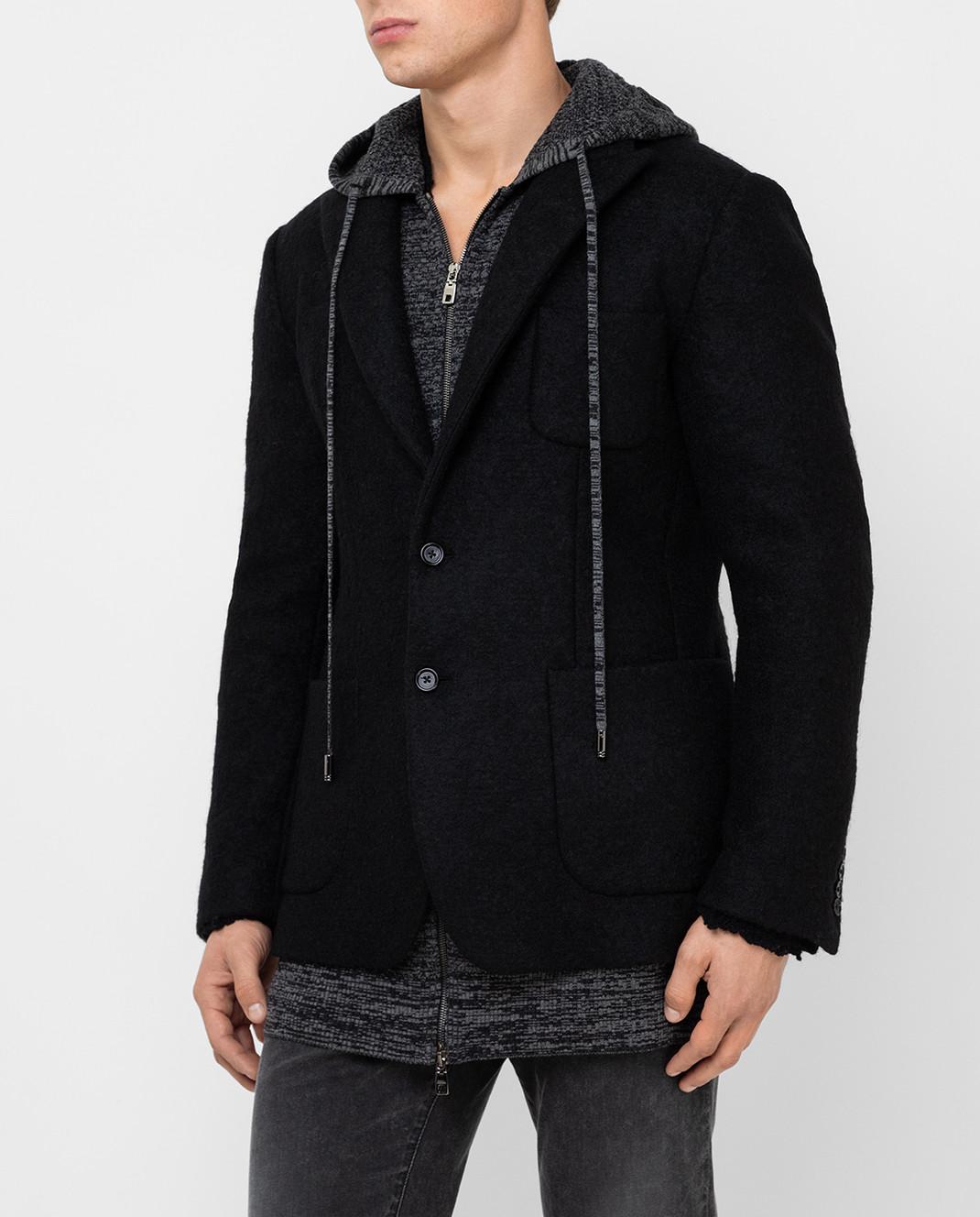 Dolce&Gabbana Черное пальто из шерсти изображение 3