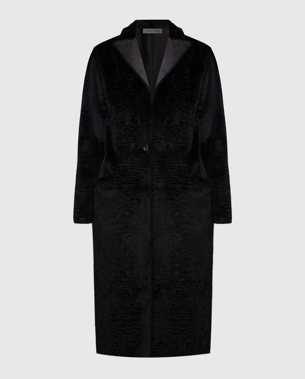 Simonetta Ravizza Черное пальто из кролика GCAPG