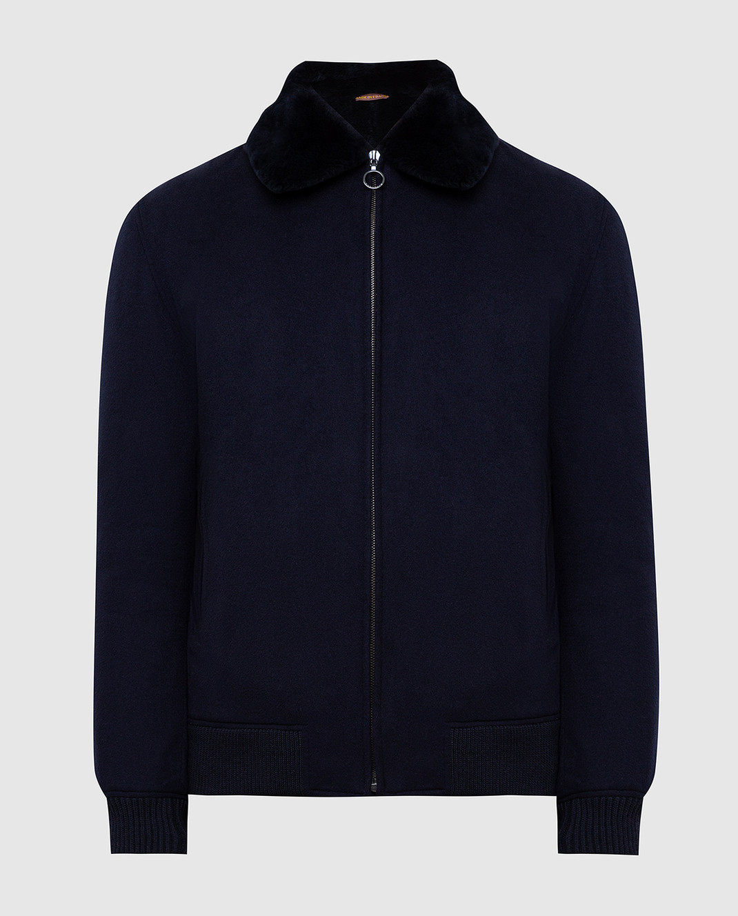 Seraphin Темно-синяя куртка из кашемира 22600H9FE9600