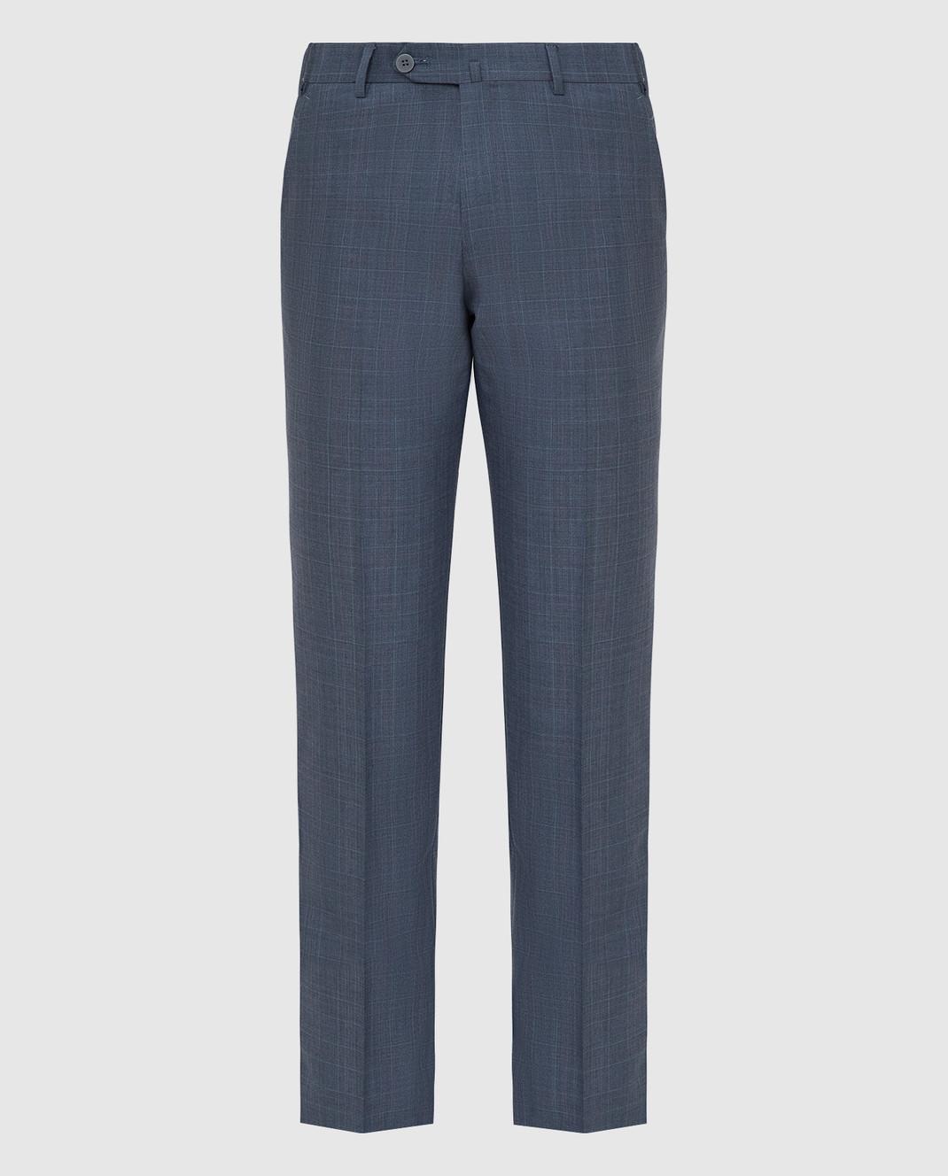 ISAIA Синие брюки из шерсти 0073153629F