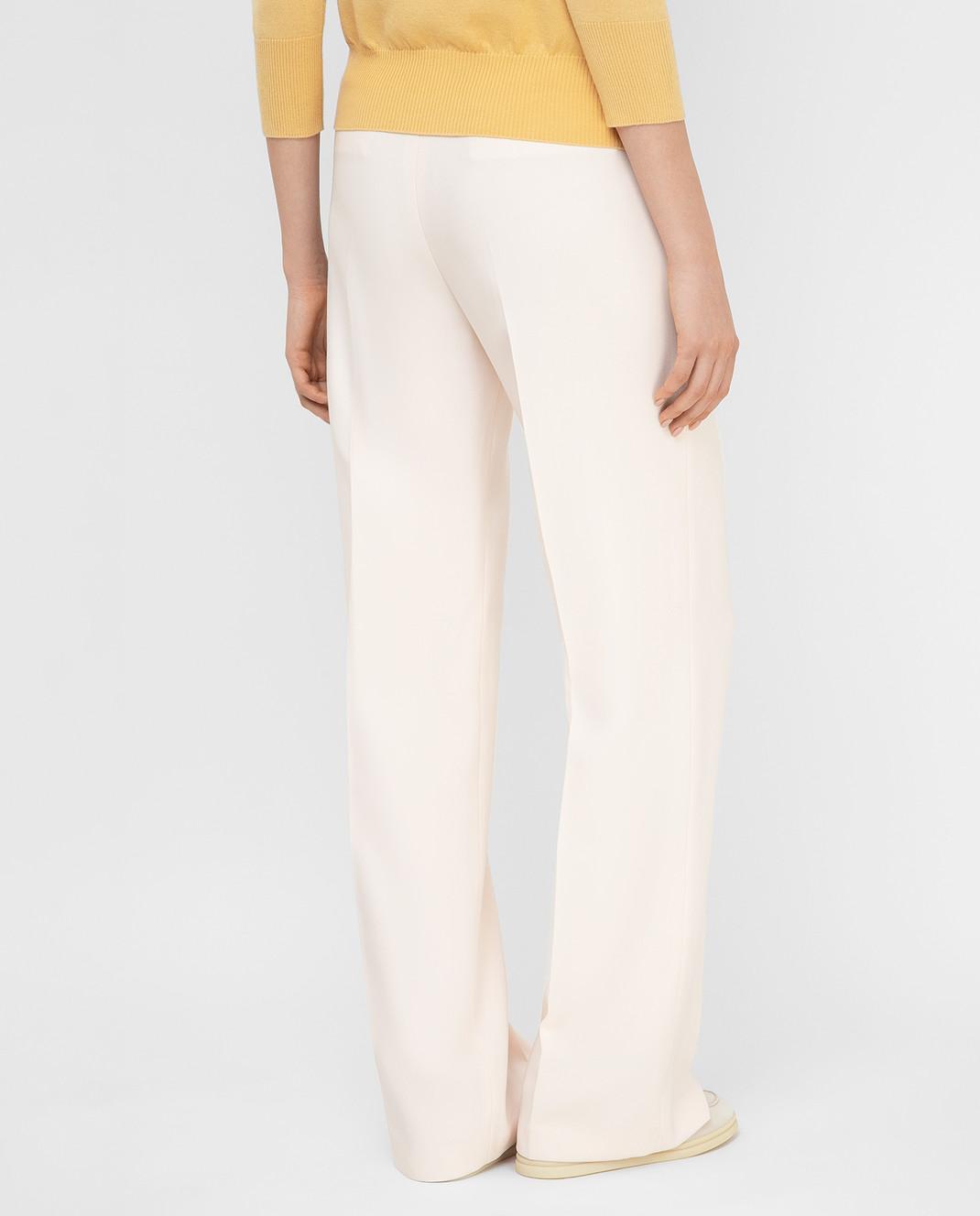 Loro Piana Розовые брюки из шелка и шерсти F1FAI5226 изображение 4