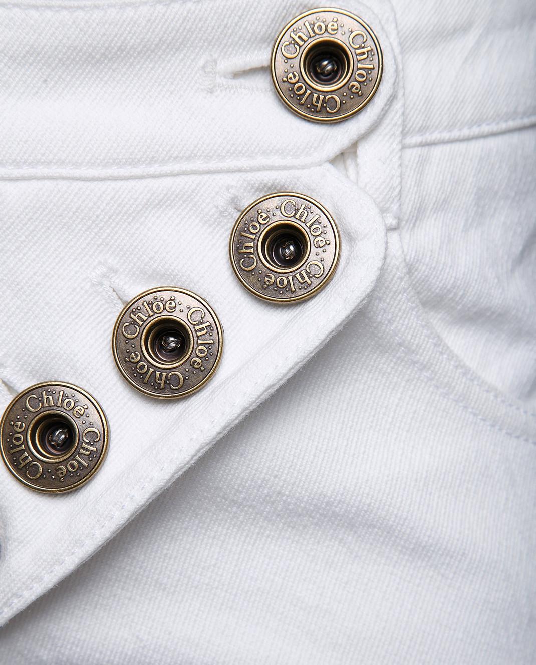 Chloe Белые джинсы 18SDP70154 изображение 5
