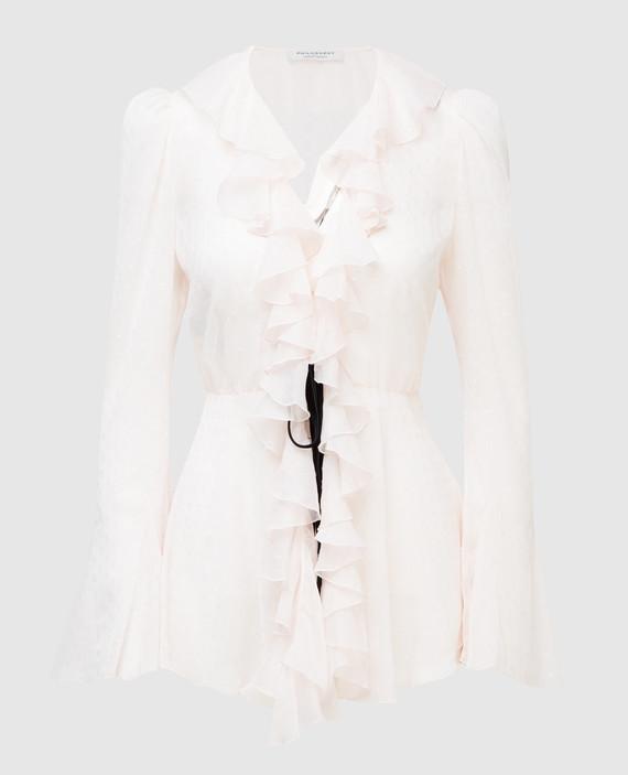 Светло-розовая блуза