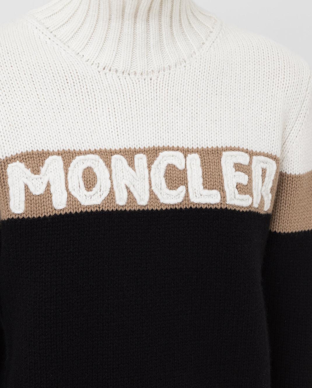 Moncler Свитер из шерсти и кашемира 9252550A9141 изображение 5