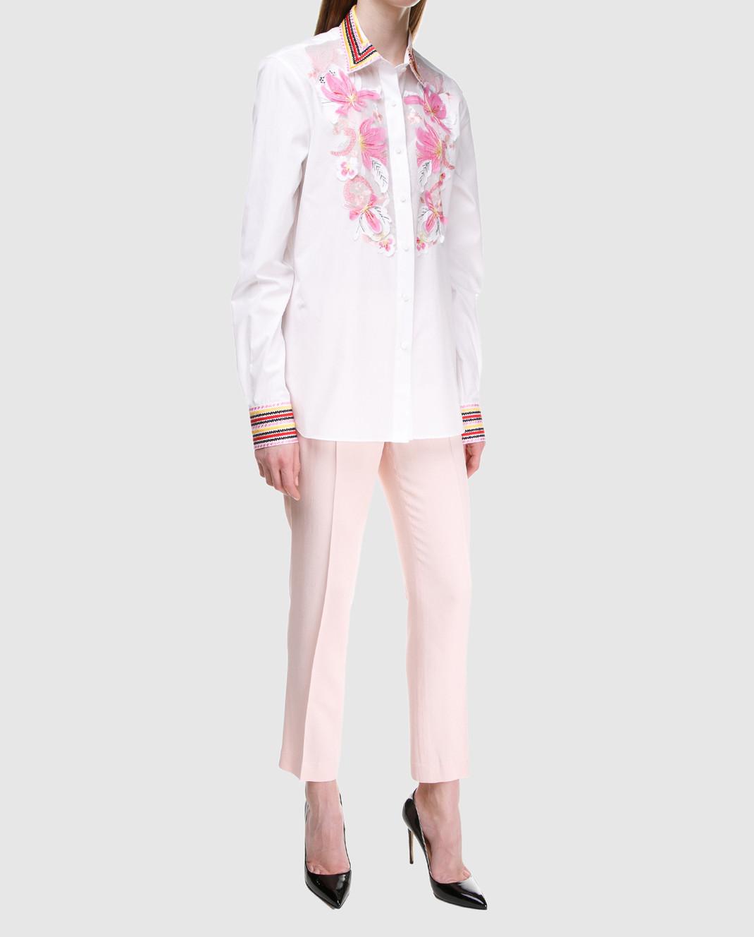 Ermanno Scervino Розовые брюки D326P301LHU изображение 2