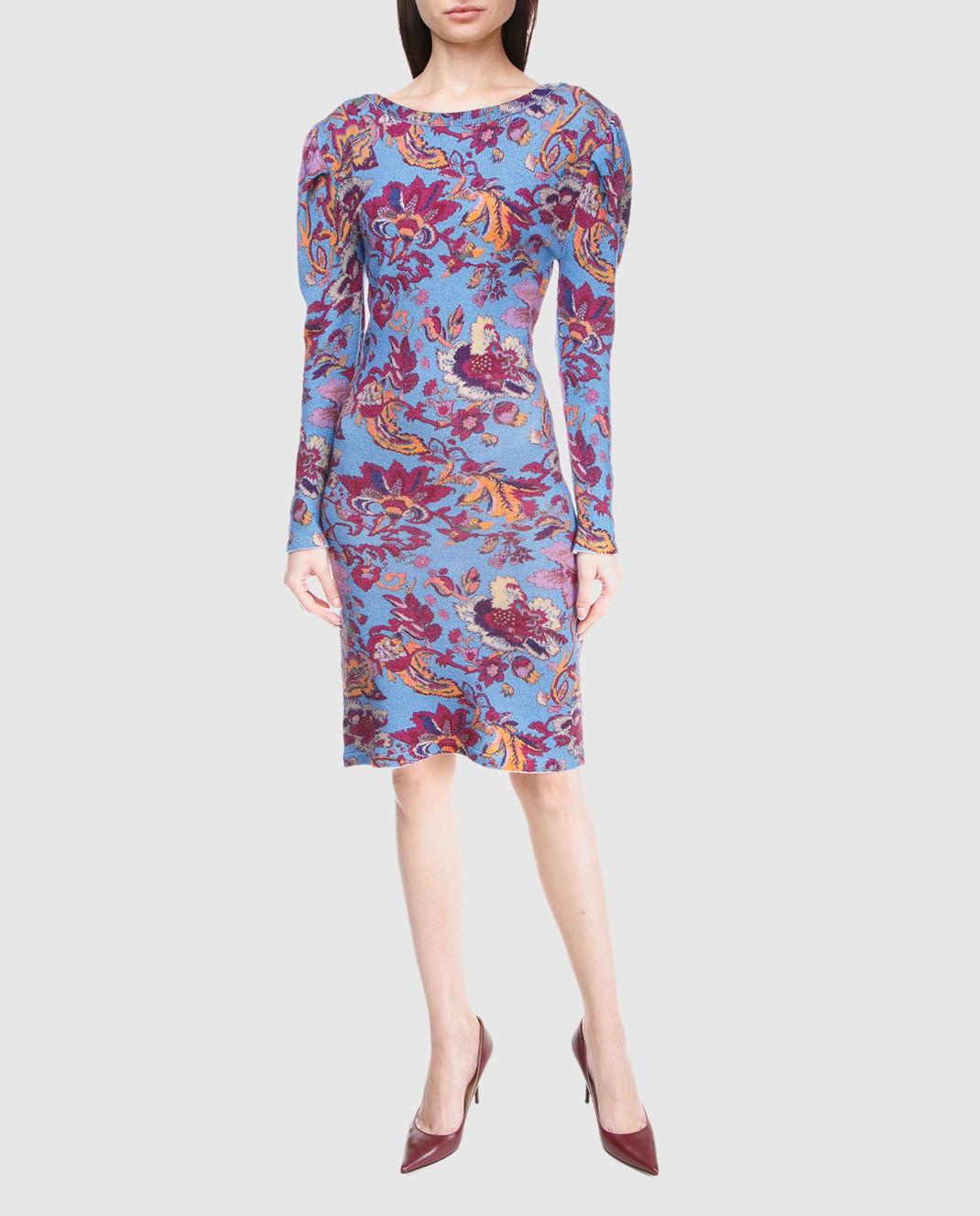 Etro Синее платье из шерсти D15673 изображение 2