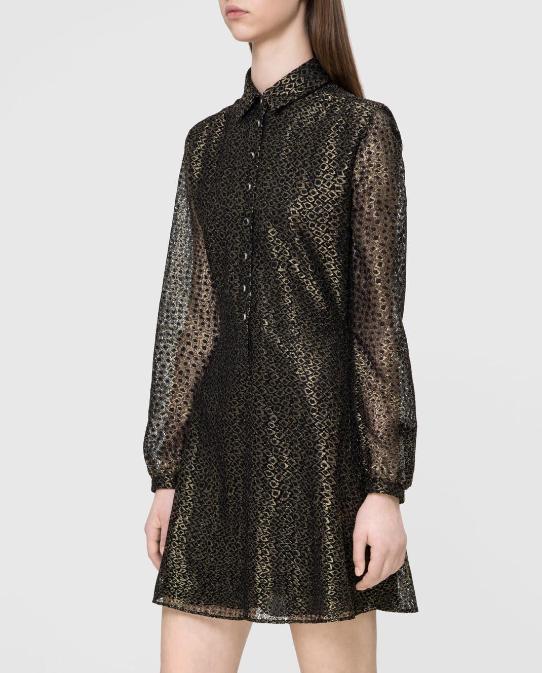 Saint Laurent Золотистое платье изображение 3