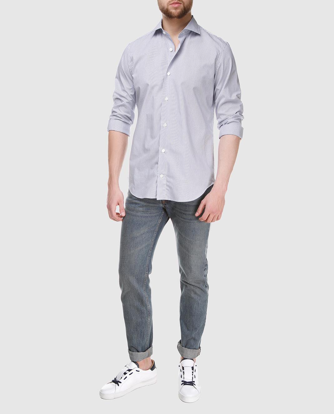 Eleventy Голубая рубашка 979CA0001CAM24003 изображение 2