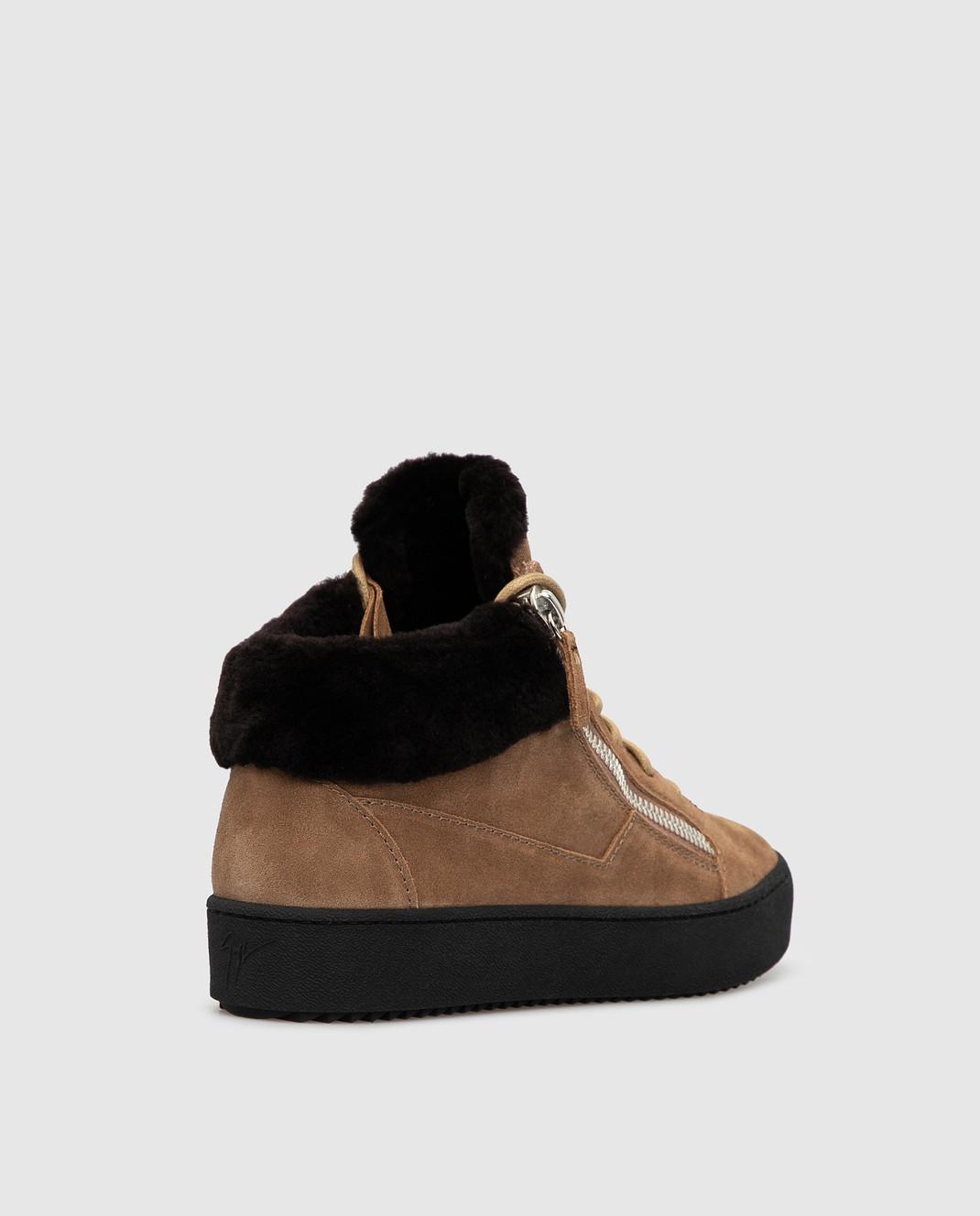 Giuseppe Zanotti Бежевые замшевые ботинки изображение 4