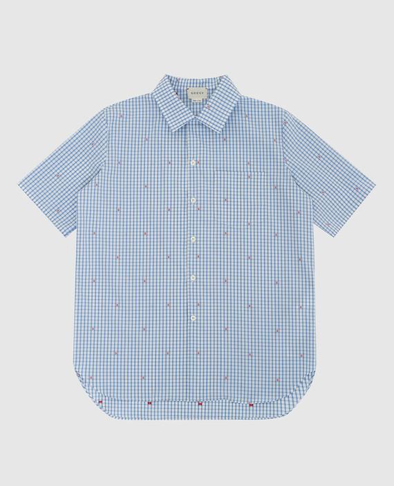 Детская голубая рубашка