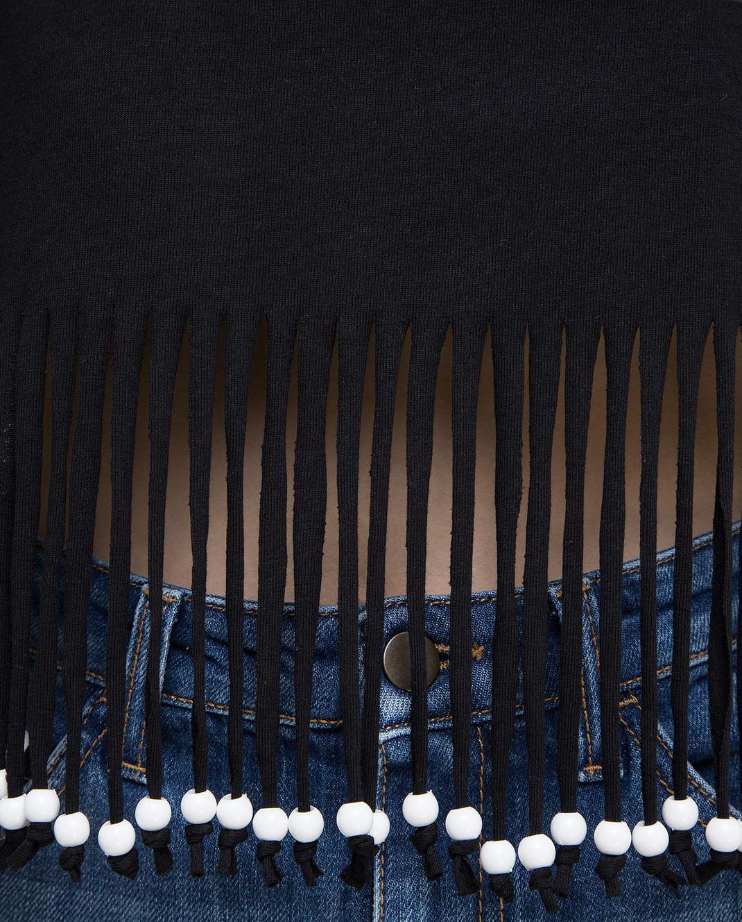 Philosophy di Lorenzo Serafini Черный топ с открытыми плечами A0705 изображение 5