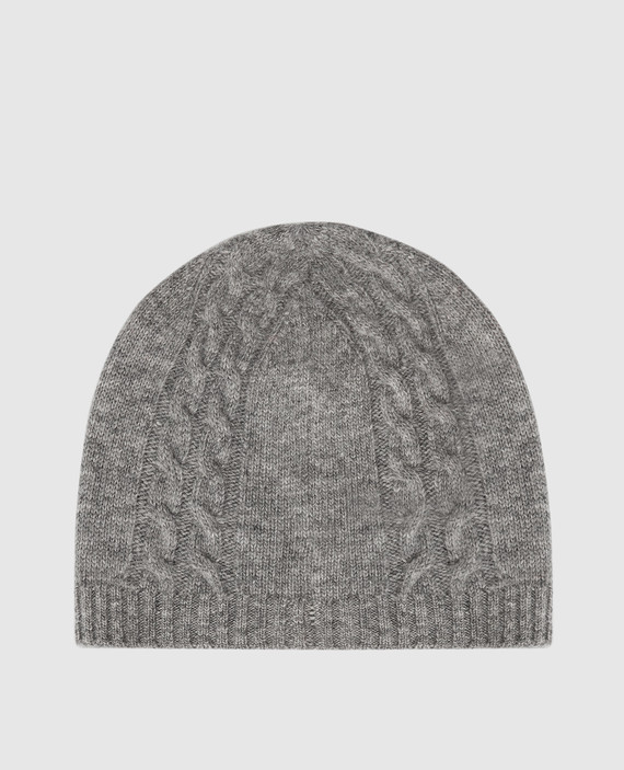 Детская серая шапка из шерсти hover