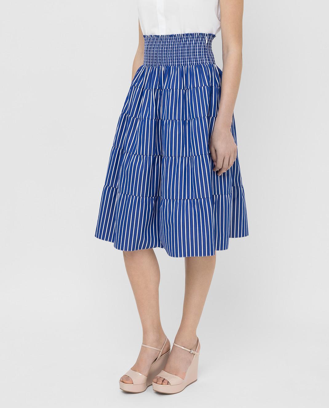 Prada Синяя юбка P149QR1VWT изображение 3
