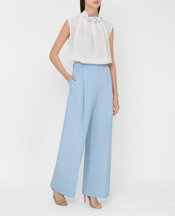 Голубые брюки из шерсти hover