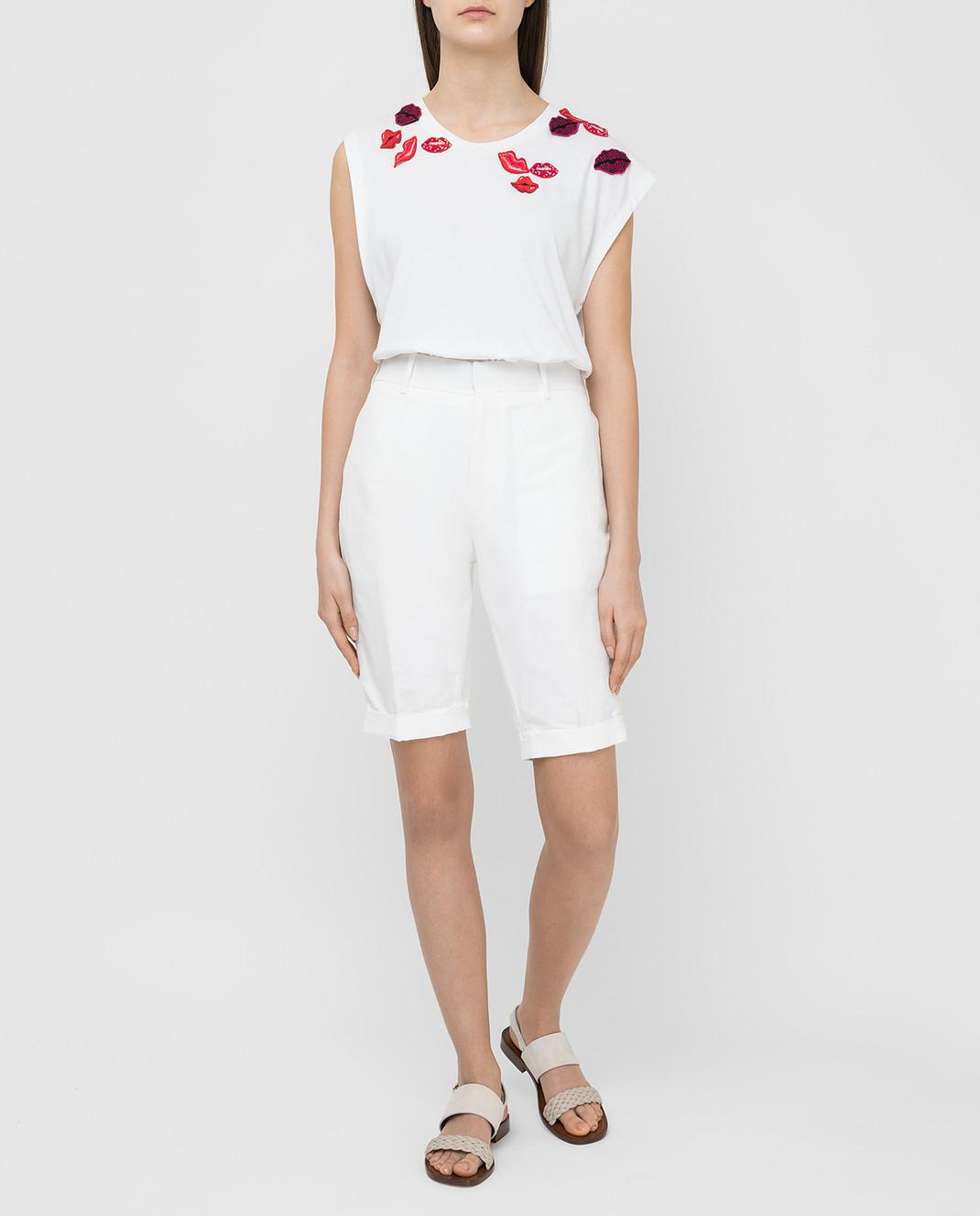 Marni Белые шорты PAMAN47A10TL234 изображение 2