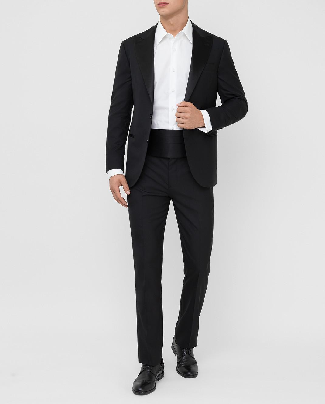 Brunello Cucinelli Черный костюм из шерсти и шелка изображение 2