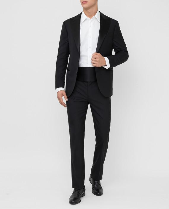Черный костюм из шерсти и шелка hover