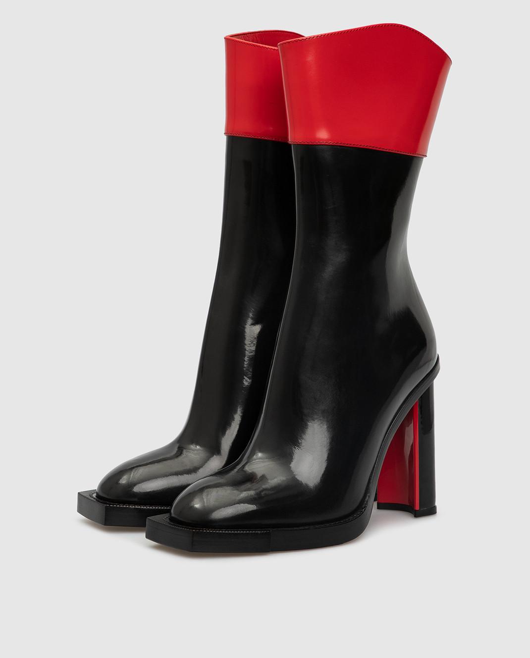 Alexander McQueen Черные кожаные сапоги изображение 3