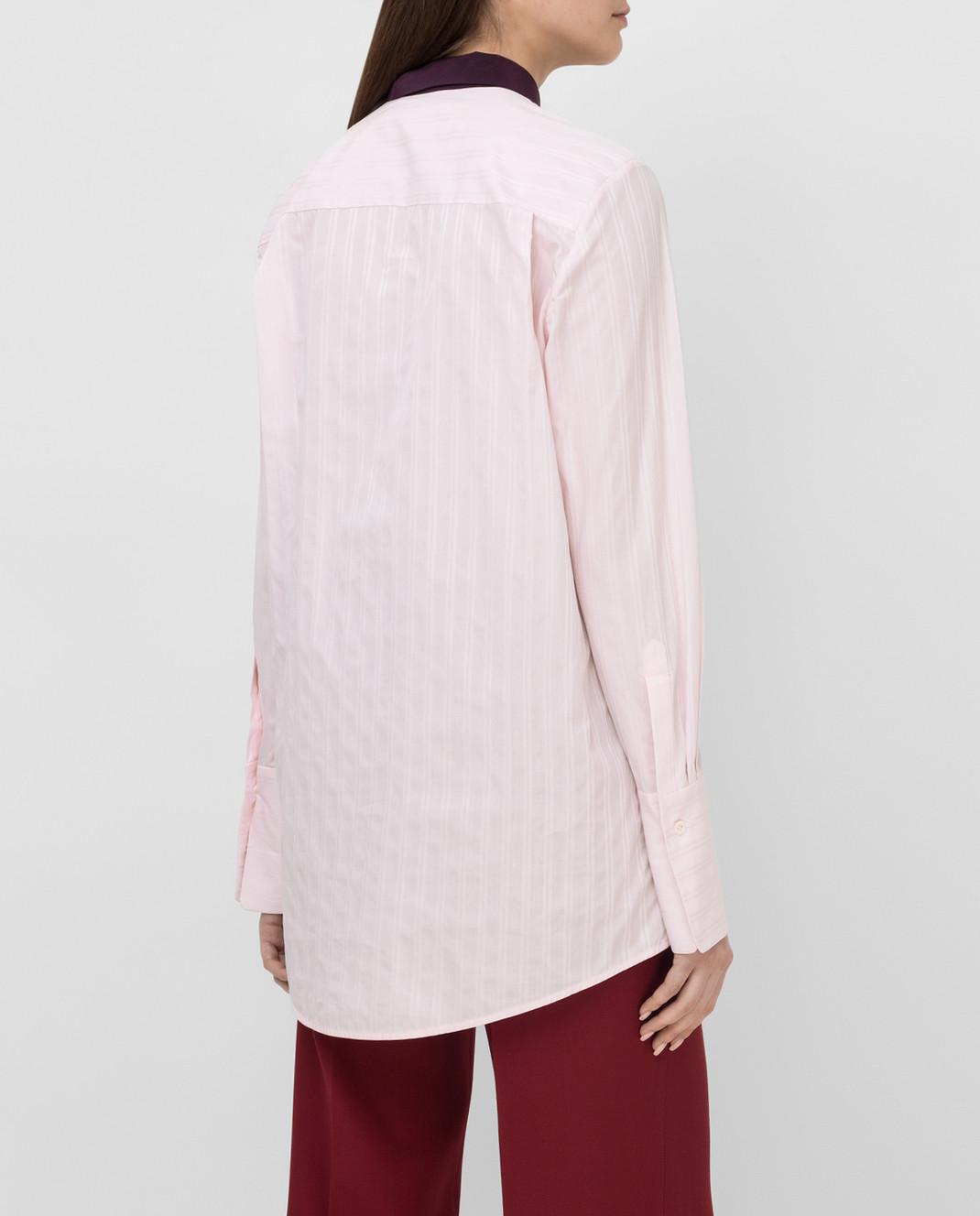 Victoria by Victoria Beckham Розовая рубашка SHVV117 изображение 4