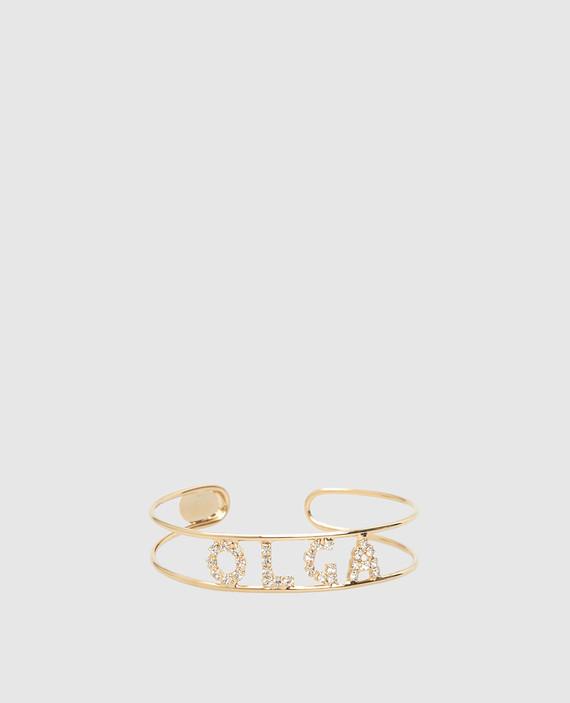 """Золотистый браслет с кристаллами """"Swarovski"""""""
