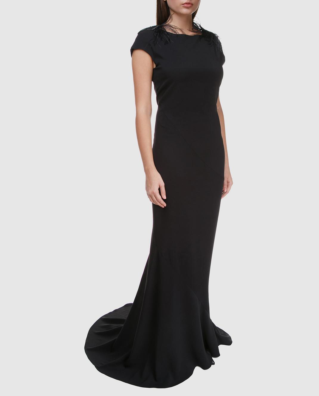 Brunello Cucinelli Черное платье MA970AE661 изображение 3
