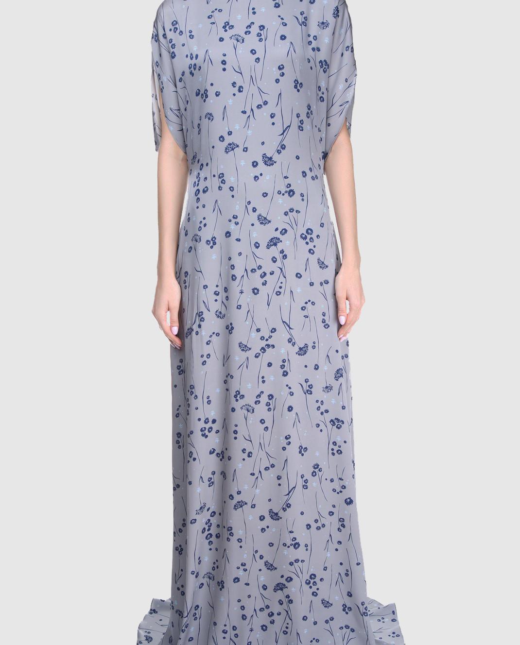 Alexander Terekhov Серое платье из шелка DE117 изображение 3