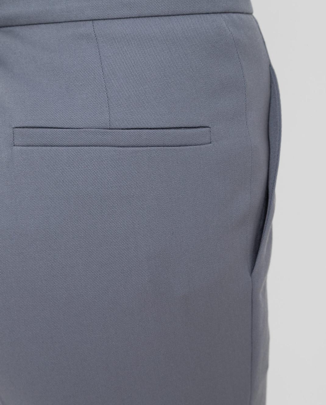 NINA RICCI Серые брюки из шерсти изображение 5