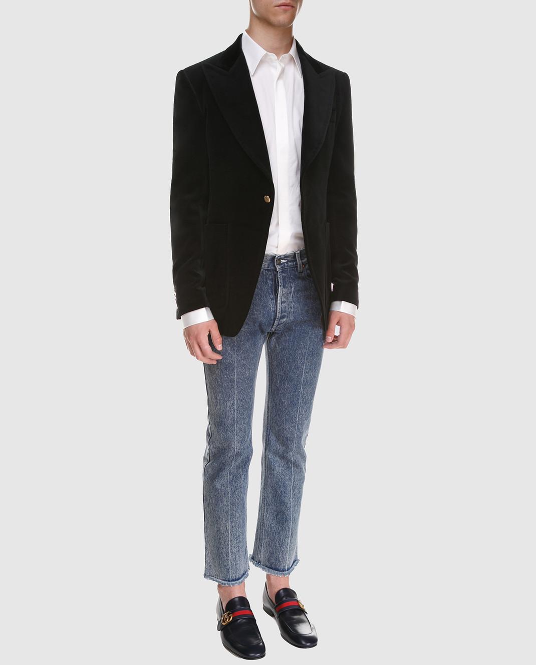 Gucci Черный бархатный пиджак изображение 2
